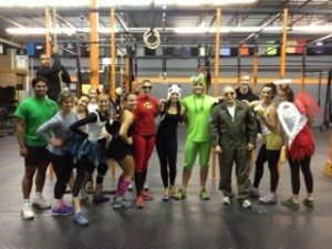 Halloween fun at the 6:30 pm WOD