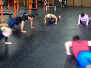 """a little """"Death by Burpee"""" action"""