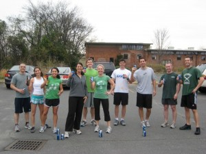 #tbt to the original St. Patty's beer mile :)